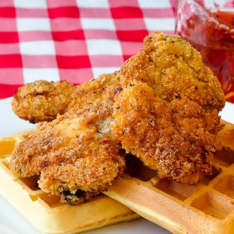 Super Crispy Chicken and Waffles