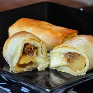 Apple Fig and Brie Phyllo Bundles 1