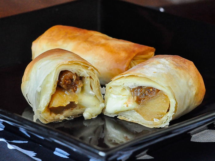 Apple Fig and Brie Phyllo Bundles 2