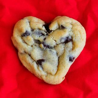 Valentine's Day Heart Shaped Chocolate Chip Cookies!