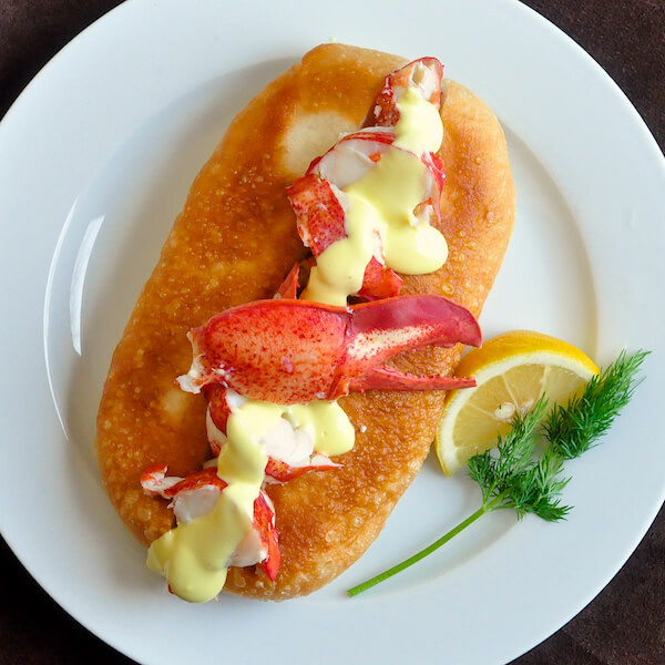 Touton Lobster Roll with Homemade Lemon Olive Oil Mayo - Rock Recipes