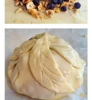 Blueberry Hazelnut Baked Brie