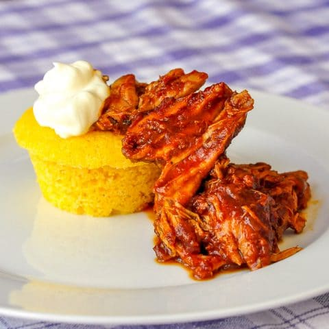 Chili Pulled Pork with Cornbread