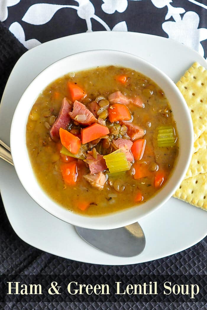 Ham and Green Lentil Soup