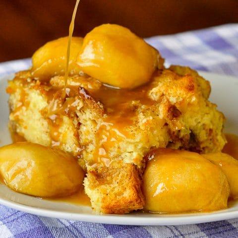 Maple Apple Bread Pudding