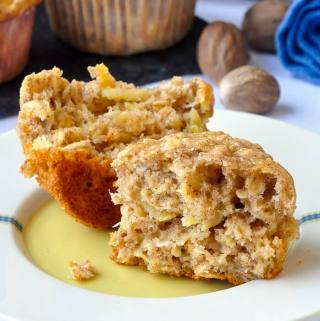 Oatmeal Apple Banana Low Fat Muffins