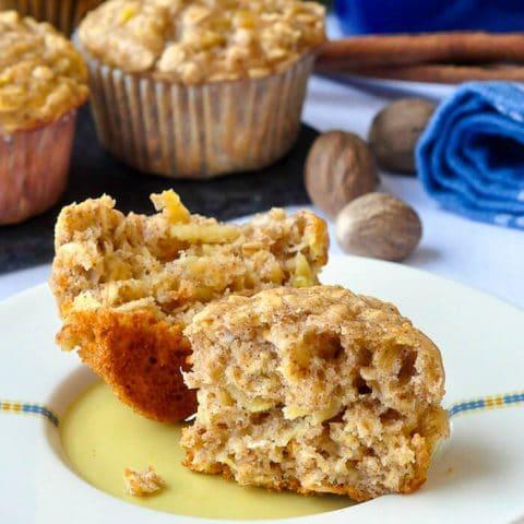 Oatmeal Apple Banana Low Fat Muffins - high in fiber too!.jpg