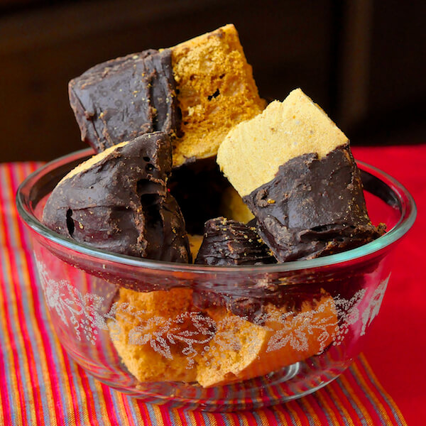 Homemade Honeycomb Sponge Toffee Candy