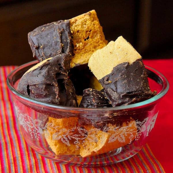 Homemade Honeycomb Sponge Toffee Candy