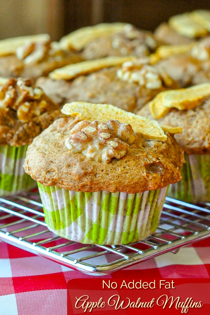 Walnut Apple Muffins photo with title text for Pinterest