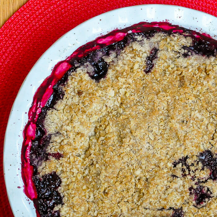 Bumbleberry Crumble close up shot