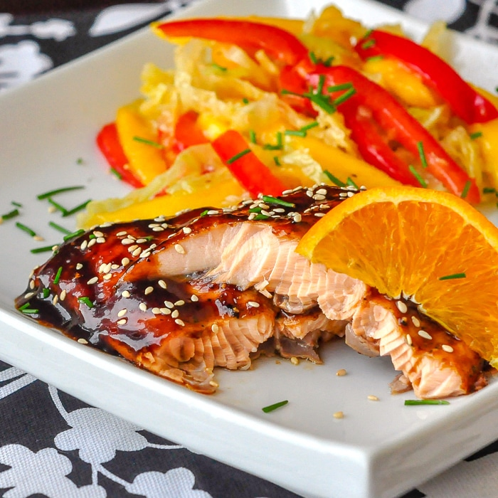 Orange Five Spice Glazed Salmon