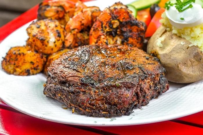 Cajun Spice Rub on Rib Eye Steak