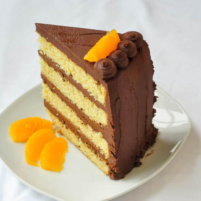 Orange Cake With Easy Chocolate Truffle Frosting A Er Based Old Fashioned Scratch