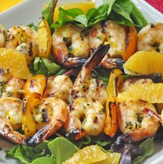 Orange Mint Grilled Shrimp