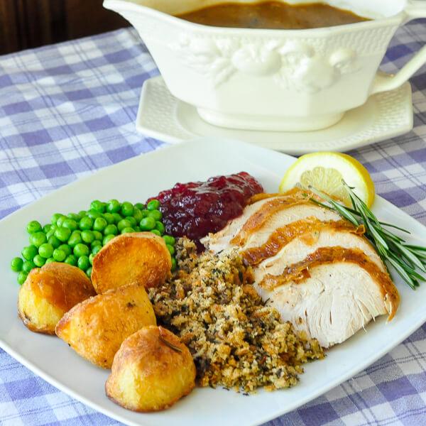 Lemon Rosemary Brined Roasted Turkey