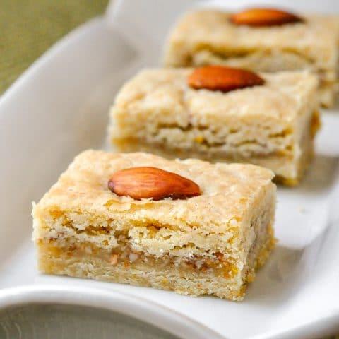 Orange Almond Cookie Bars