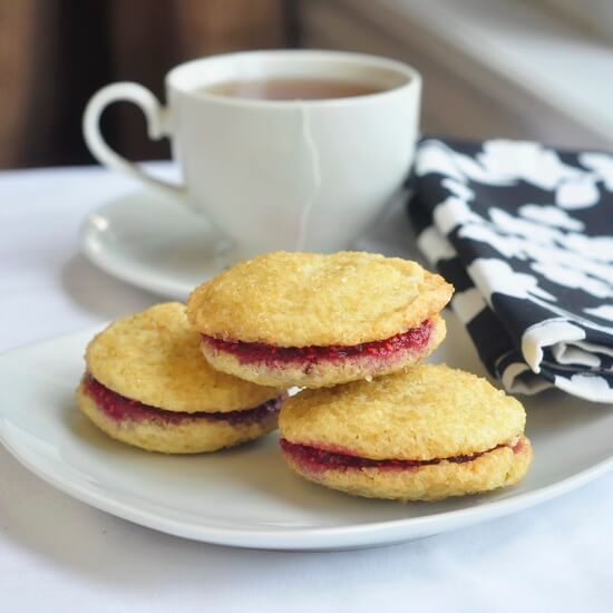 Raspberry Vanilla Butter Cookies