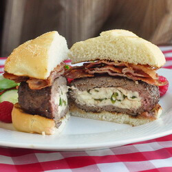 Jaleoeno and Queso Fresco Stuffed Burgers
