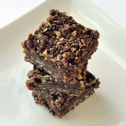 Chocolate Orange Date Crumbles