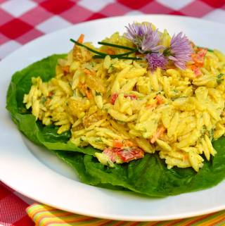 Creamy Curry Orzo Salad