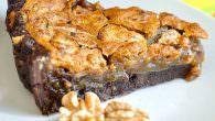Walnut Brownie Pie