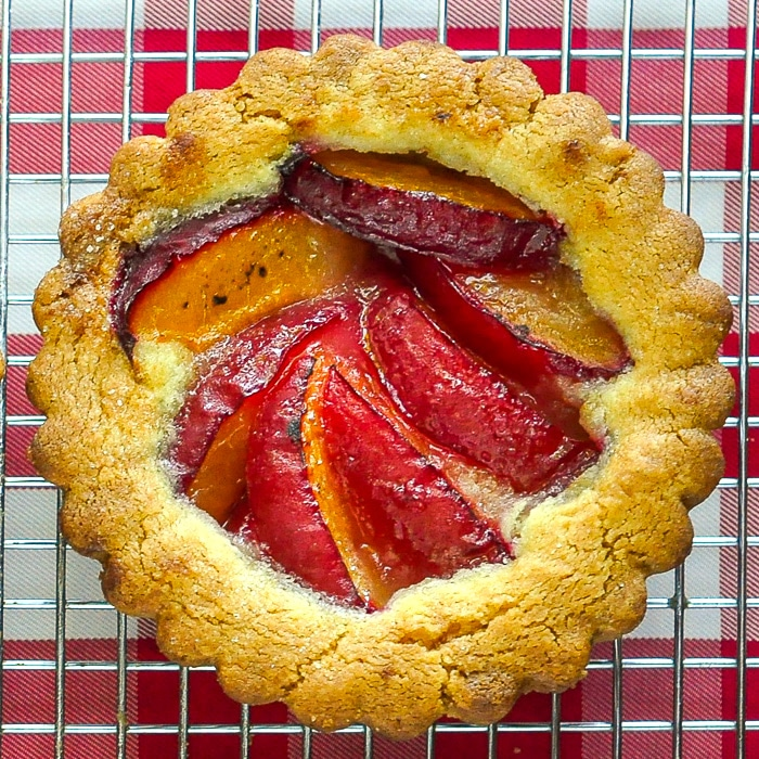 Plum Summer Fruit Cookie Tarts