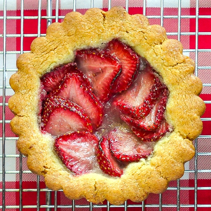 Strawberry Summer Fruit Cookie Tarts