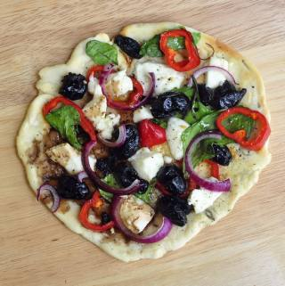 Grilled Flatbread Greek Pizza