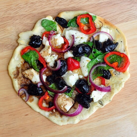 Grilled Greek Flatbread Pizza