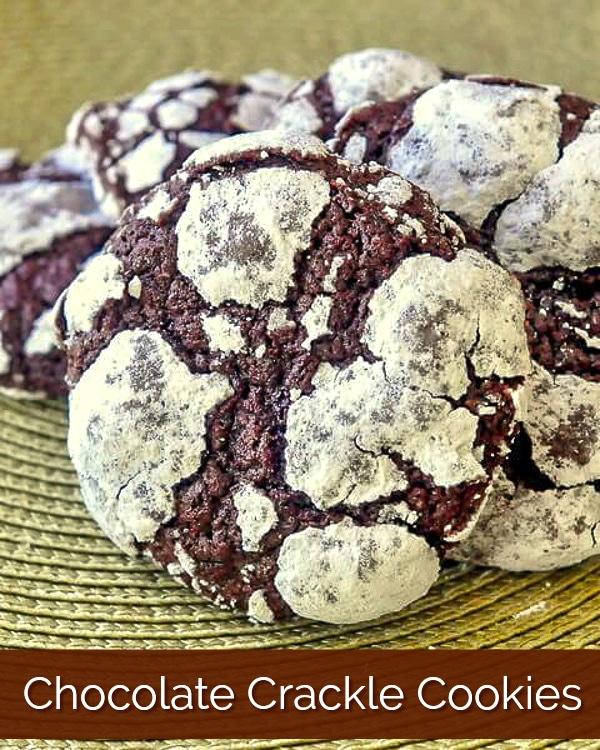 Foolproof Chocolate Crackle Cookies photo with title text