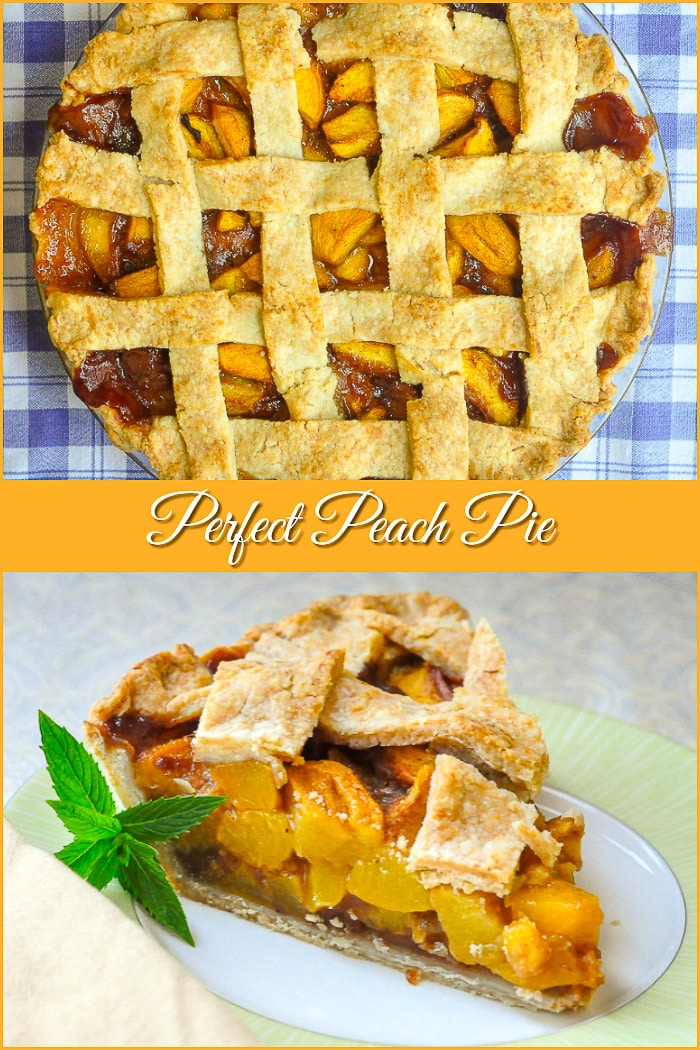 Peach Pie 2 photo collage with title text added for Pinterest