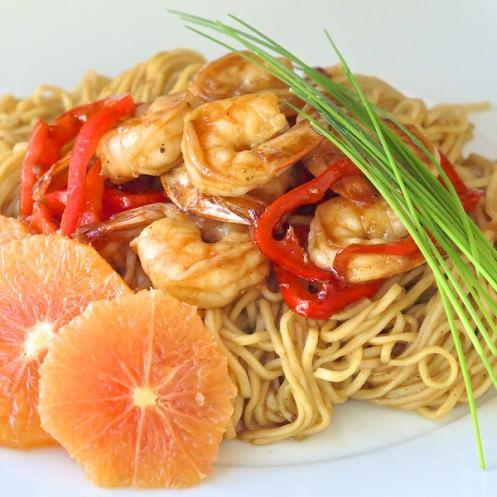 15 Minute Orange Hoisin Shrimp & Noodles - Rock Recipes - Rock Recipes