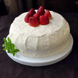 Strawberry Vanilla Buttercream Cheesecake Shortcake