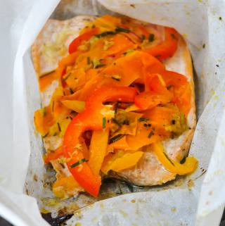 Ginger Lime Salmon Paper Parcels