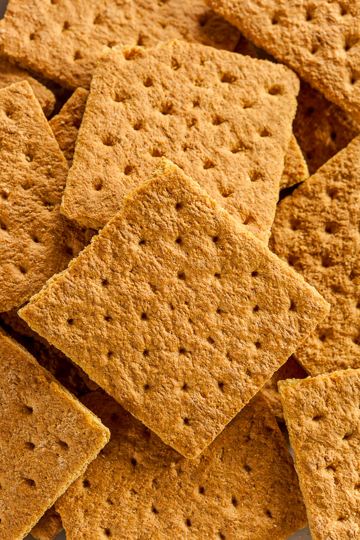 Honey Graham Crackers on a Plate