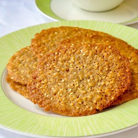 Sesame Wafer Cookies