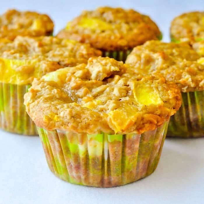 Mango Cheesecake Muffins