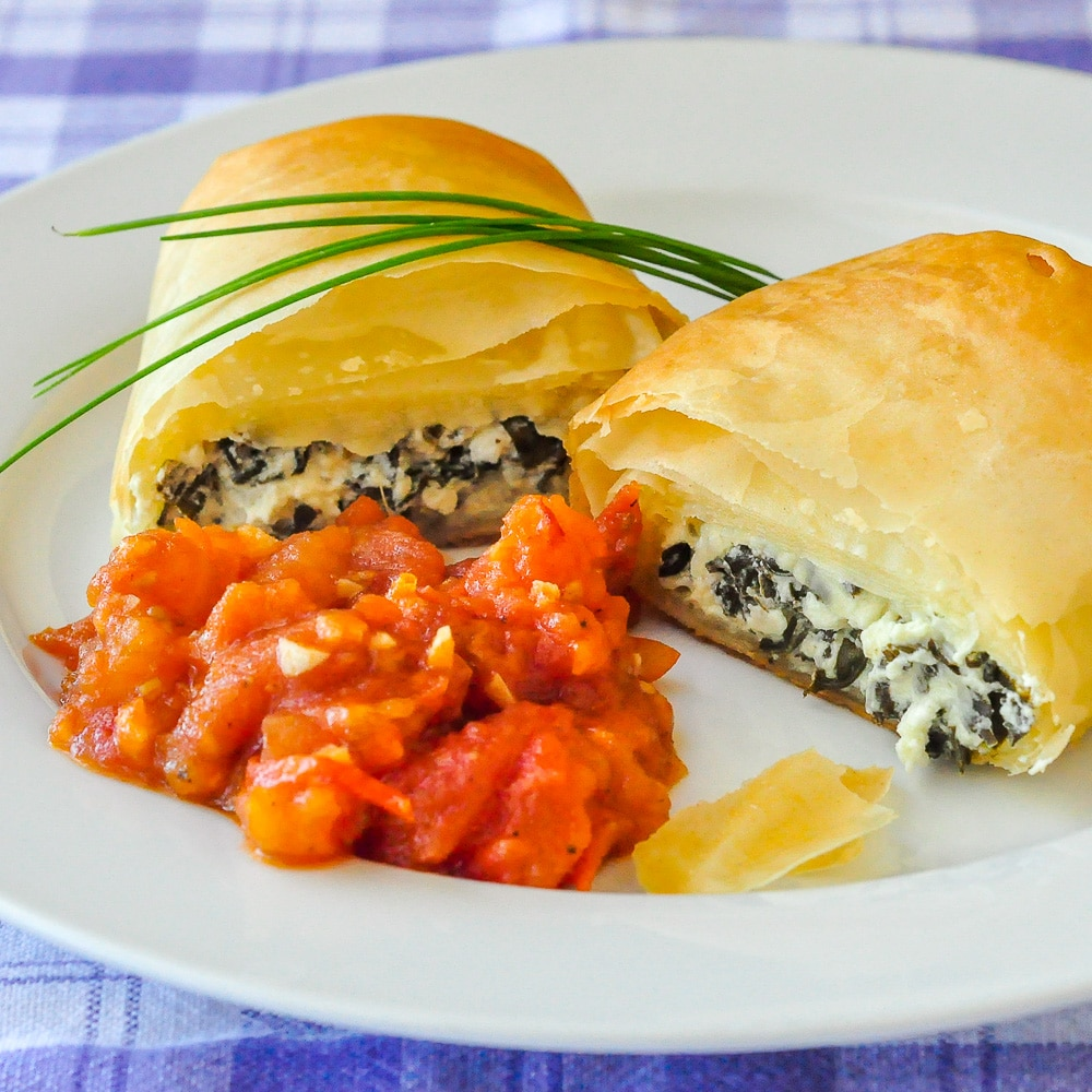 Goat Cheese Spanakopita Rolls featured image