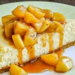 Maple Apple Cheesecake close up image