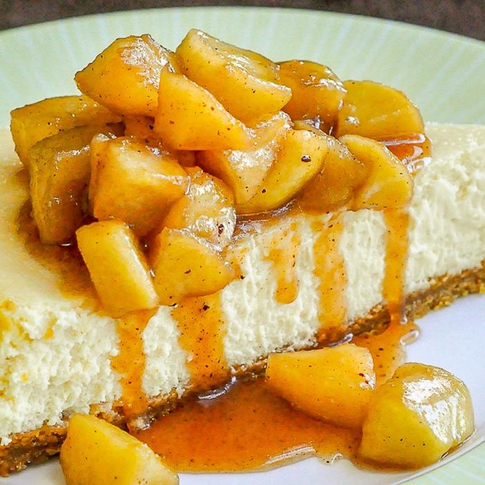 Maple Apple Cheesecake close up image