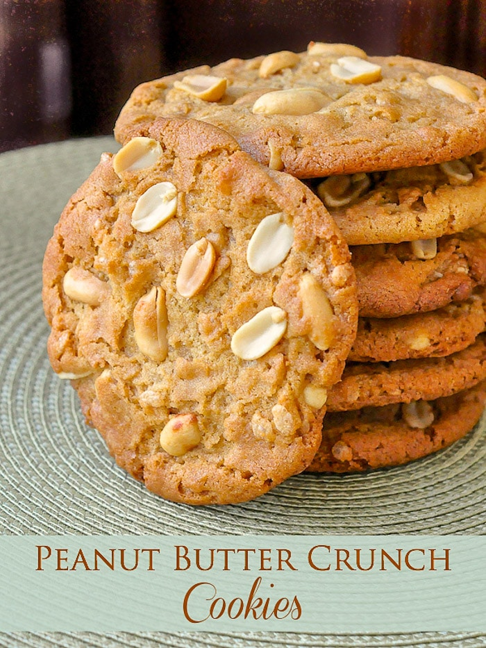 Peanut Butter Crunch Cookies photo with title text for Pinterest