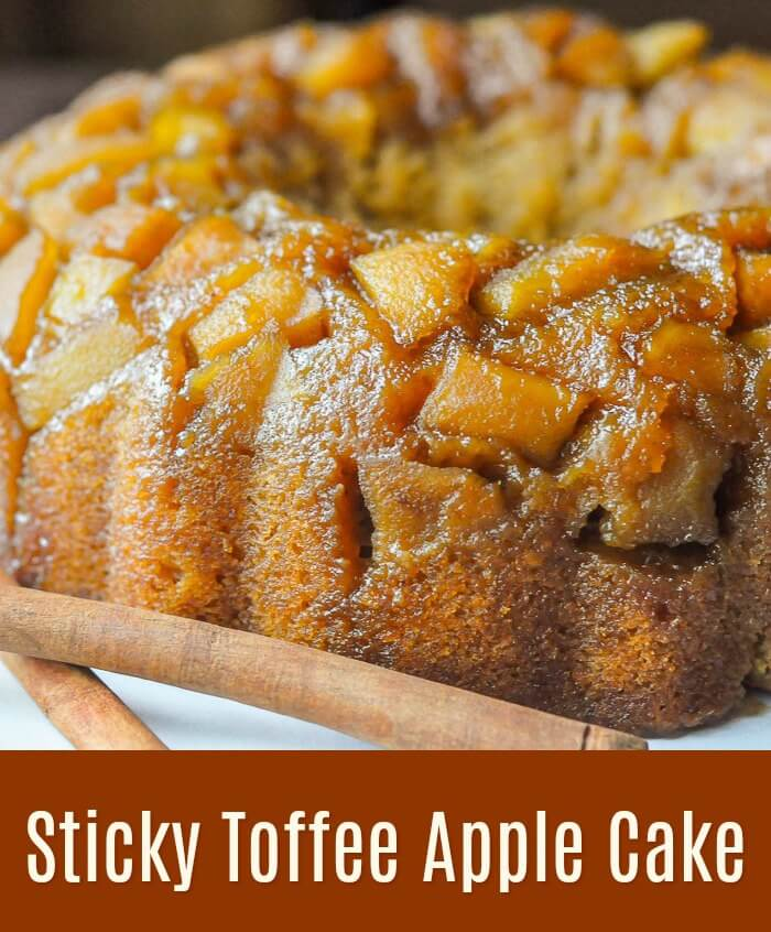 Sticky Toffee Apple Cake with title text