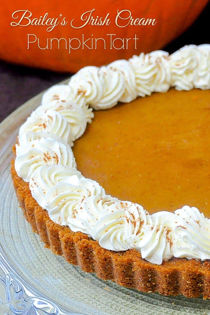 Bailey's Irish Cream Pumpkin Tart image with title text