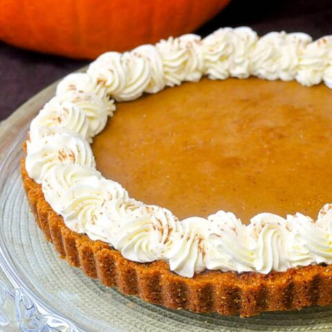Bailey's Irish Cream Pumpkin Tart
