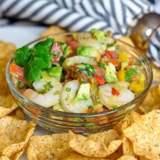 Avocado Lime Shrimp Salsa
