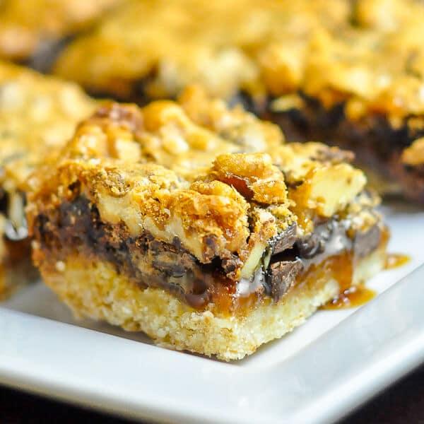 Chocolate Walnut Butter Tart Bars