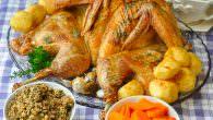 Flat Roasted Turkey with garlic & herbs