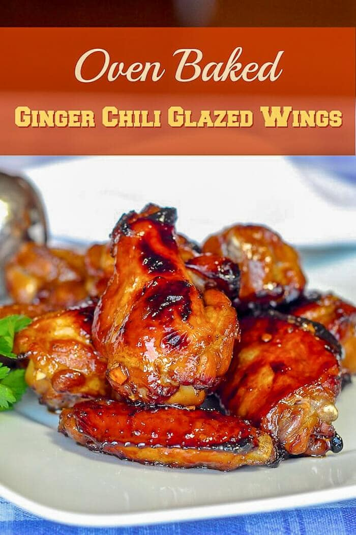 Oven Baked Ginger Chili Glazed Wings image for Pinterest