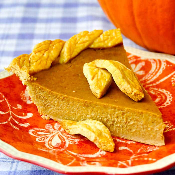 Pumpkin Pie cut slice